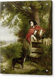 A Dream Of The Future Acrylic Print by William Powell Frith