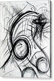 A Dunking Acrylic Print by Michael Morgan