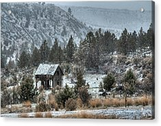 A Dusting Of Snow Acrylic Print