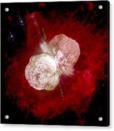 A Dying Star, Eta Carinae, Spews Gas Acrylic Print by Nasa