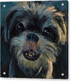 Acrylic Print featuring the painting A Face Only A Mother Could Love by Billie Colson