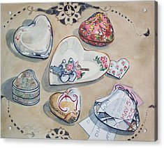 A Fair Of Hearts Acrylic Print by Jane Loveall