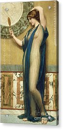 A Fair Reflection Acrylic Print by John William Godward