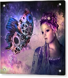A Fairy Butterfly Kiss Acrylic Print