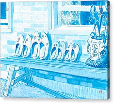 A Family Of Wooden Shoes  Acrylic Print