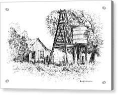 A Farm In Schroeder Acrylic Print