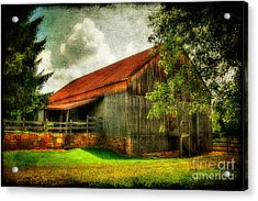 A Farm-picture Acrylic Print by Lois Bryan