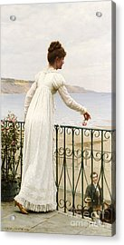 A Favour Acrylic Print by Edmund Blair Leighton