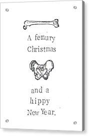 A Femury Christmas Acrylic Print