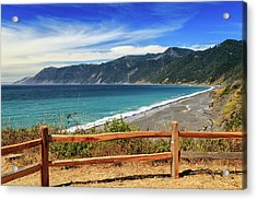 Acrylic Print featuring the photograph A Fence On The Lost Coast by James Eddy