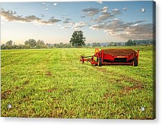 Acrylic Print featuring the photograph A Field At Sunrise by Lars Lentz