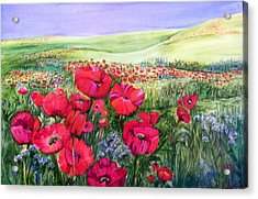 A Field Of Poppies Acrylic Print