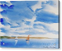 A Fine Sailing Breeze On The River Derwent Acrylic Print