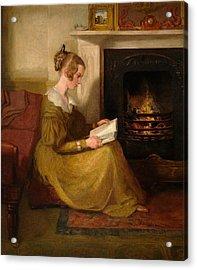 A Fireside Read Acrylic Print by William Mulready