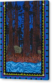 Acrylic Print featuring the painting A Forest Whispers by Chholing Taha
