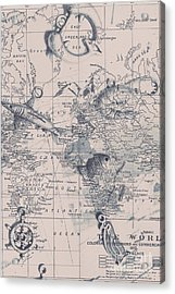 A Fishermans Map Acrylic Print