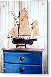 A Fishin Boat Right Outside Of Delacroix Acrylic Print by Tim Johnson