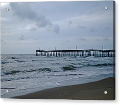 A Fishing Pier At Dawn Acrylic Print