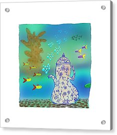 A Fishy Tea Pot Acrylic Print