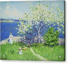 A Fjord Near Oslo Acrylic Print by Paul Fischer