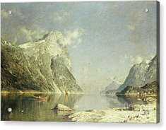 A Fjord Scene Acrylic Print by Adelsteen Normann