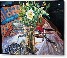 A Flower And A Vase Acrylic Print