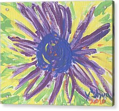 A Flower Acrylic Print by Yshua The Painter