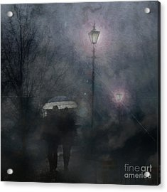 A Foggy Night Romance Acrylic Print