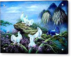 A Forest Bird Never Wants A Cage  Acrylic Print by Yuki Othsuka