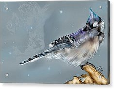 Acrylic Print featuring the digital art A Friend For Lunch Three by Darren Cannell