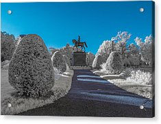 A Frosted Boston Public Garden Acrylic Print