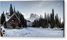 A Frozen Emerald Lake Morning Acrylic Print by Brad Allen Fine Art