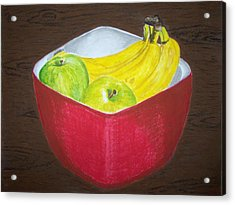 A Fruit A Day Acrylic Print by Sanchia Fernandes