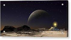 A Futuristic Space Scene Inspired Acrylic Print by Frank Hettick