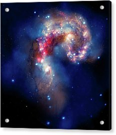 Acrylic Print featuring the photograph A Galactic Spectacle by Marco Oliveira