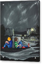 A Game Of Two Divides Acrylic Print by Scott Wilmot