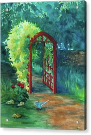 A Garden For Lee Acrylic Print by Becky Chappell