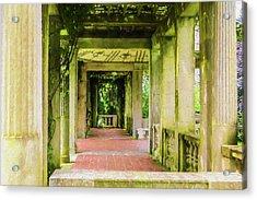 A Garden House Entryway. Acrylic Print