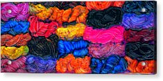 A Garden Of Yarn Acrylic Print by FeatherStone Studio Julie A Miller