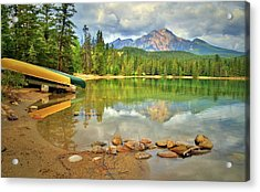 Acrylic Print featuring the photograph A Gentle Light At Lake Annette by Tara Turner