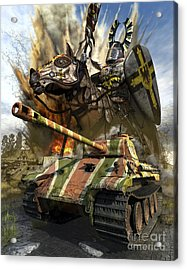 A German Panzer V Medium Tank Acrylic Print