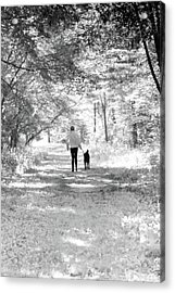 A Girl And Her Dog Acrylic Print
