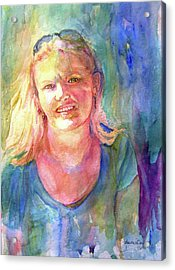 Acrylic Print featuring the painting A Girl Called Mary by P Maure Bausch