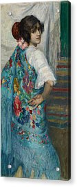 A Girl With Shawl Acrylic Print by Gonzalo Bilbaogns
