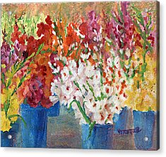 A Gladiola Party Acrylic Print by Jimmie Trotter