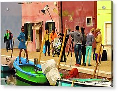 A Glamour Shoot In Burano Acrylic Print