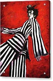 A Glance From The Catwalk Acrylic Print by Barbara Jean Lloyd