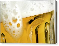 A Glass Of Beer Acrylic Print by Caspar Benson