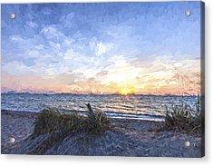 A Glass Of Sunrise II Acrylic Print by Jon Glaser
