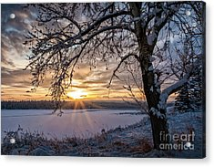 A Glenmore Sunset Acrylic Print